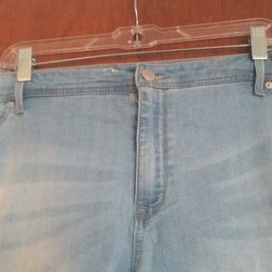 c1a8dbee18c Dress Barn Jeans - Dressbarn plus size 22 light denim Capri